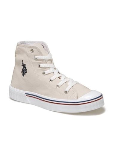 U.S. Polo Assn. Penelope High 1Fx Kadın Sneaker Bej